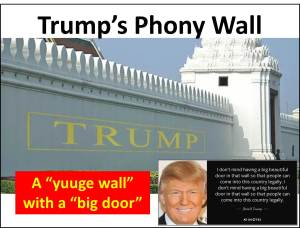 Phony wall