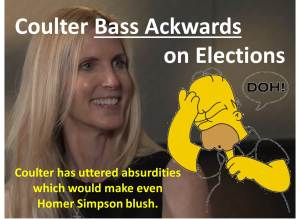 Coulter = Homer Simpson